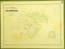 Commune de Vauderens. Plan d'ensemble. Levé par L. Genoud.Carte topographique 5.000. Format  59x78cm..