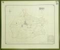 Commune de Ursy. Plan d'ensemble. Levé par L. FaselCarte topographique 5.000. Format  65x55cm..