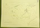 Commune de Rueyres-les-Près. Plan d'ensemble. Levé par G. Pillonel.Carte topographique 5.000. Format  70x50cm..