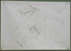 Commune de St. Aubin et Les Friques. Plan d'ensemble. Levé par J. Ansermot. Carte topographique 5:000. Format 100x70cm..
