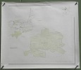 Gemeinde Murten Blatt 2: Murtenwald. Übersichtsplan. Topographische Karte 5:000 vonA. winkler. Format 92x80cm..