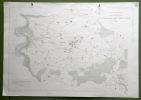 Commune de Treyvaux. Plan d'ensemble. Levé par L. Pasquier. Carte topographique 5:000. Format 100x70cm..