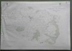 Gemeinde  Rechthalten. Übersichtsplan. Topographische Karte von Arnold Gapany. 5:000  Format 100x70cm..