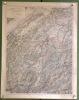 Carte du projet du complément du réseau des voies ferrées du canton de Fribourg. Propositions du Conseil d'Eat. Echelle 1: 100000. Format 54x68cm..