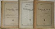 Résultats statistiques du recensements fédéral de la population du 1er décembre 1900. Publication du Bureau de statistique du Département suisse des ...