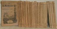 Almanach de la Société des Agriculteurs de France. 1891 (première année) à 1914, manque l'année 1894..