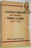 Recherches médicales en France pendant la Guerre 1939 - 1945. Préface du Professeur Pasteur Vallery-Radot.. HAMBURGER, Jean.