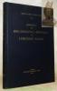 Manuel analytique et critique de bibliographie générale de l'histoire Suisse. Préface par Pierre Marot.. SANTSCHY, Jean-Louis.