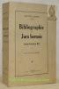 Bibliographie du Jura bernois. Ancien Evêché de Bâle. Préface de M. Virgile Rossel.. AMWEG, Gustave.