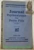 """Journal psychanalytique d'une petite fille. Adapté de l'Allemand par Clara Malraux. Sixième édition. """"Les Documents Bleus"""" N° 46.."""