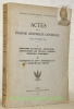 Actes de la Dixième Assemblée générale 14-20 Octobre 1930.I: Programme des travaux - Délégations - Comptes-rendus des travaux - Rapports présentés à ...