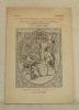 La Bibliothèque d'un Humaniste d'après les livres choisis principalement dans les bibliothèques de Prosper Blanchemain et de M. Alfred Pereire.Préface ...