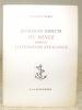 Quelques aspects du songe dans la littérature espagnole.. BOREL, Jean-Paul.