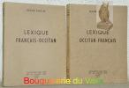 Lexique occitan-français. Lexique français-occitan.. BARTHE, Roger.
