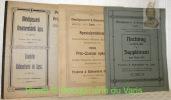 - Metallgiesserei und Armaturenfabrik Lyss. Preis-Liste 1906. Fonderie et robinetterie de Lyss. Prix-courant 1906.- Nachtrag zum Album 1906. Suppément ...