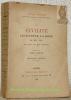 La Civilité : l'étiquette, la mode, le bon ton du XIIIe au XIXe siècle.Tome premier. Deuxième édition.. FRANKLIN, Alfred.