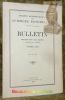 BULLETIN Année 1927. Nouvelle série, tome premier (Tome LII de la collection).Avec 5 planches hors texte, 120 figures et un portrait. Annexe : ...