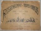 Souvenir du Rassemblement des Troupes Fédérales dans le Pays de Vaud Septembre 1886 dessiné d'après nature par Henri Hébert.. HEBERT, Henri.