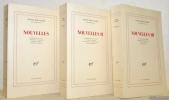 Nouvelles. 3 Volumes. I: Mémoire de la ville - Vessies et lanternes - La barque amirale - Fouette, cocher! II: Le chemin des caracoles- Le jardin ...