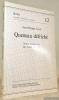 """Queneau défriché. Notes marginales sur Saint Glinglin. Collection """"Seges. Neue Folge -Nouvelle série -  Nuova serie 12"""".. COEN, Jean-Philippe."""
