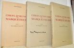 Chefs-d'oeuvre des marqueteurs. En 3 volumes. Tome I. Des orgines à Louis XIV. Tome II. De la Régence à nos jours. Tome III. Marqueteurs d'exception.. ...