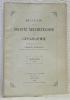 Bulletin de la société Neuchâteloise de Géographie. Publié sous la direction de Charles Biermann. Tome XXXVI. 1927.Etat et buts de la géographie de la ...