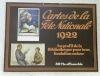 Affiche de Pro-Juventute avec enveloppe d'origine. Carte de la Fête Nationale 1922. Au profit de la Bibliothèque pour tous, fondation suisse. ...