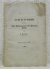 An und fur die Gemeinden uber das neue Armengesetz vom Februar 1857.. FISCHER, L.