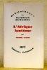 """L'Afrique fantôme. Collection: """"Bibliothèque des Sciences Humaines"""".. LEIRIS, Michel."""