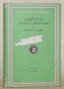 Historia animalium I, Books I - III. Loeb classical library. Aristotle IX. Translated by A. L. Peck.. ARISTOTLE.