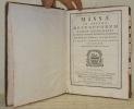 Missae in agenda defunctorum tantum deservientes. Ex missali romano recognito desumptae. Cum Ordinario & Canone, ut in ipsis servatur. Ad sum et ...