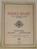 Pages d'Art. Revue mensuelle suisse illustrée. Beaux-Arts - Musique - Littérature. Numéro 4 - avril 1916 - 2me année. Sommaire du Numéro de Avril ...