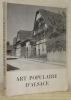 Art populaire d'Alsace. Receuil d'études. Préface de Victor de Pange.. RIFF, Adolphe
