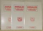 Annales de généalogie et d'héraldique. Revue trimestrielle. Janvier - Sept. 1985. Numéros 1, 2 et 3..