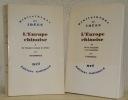 L'Europe chinoise. 2 Volumes. I: De l'Empire romain à Leibniz. II: De la sinophilie à la sinophobie. Collection Bibliothèque des Idées.. ETIEMBLE.