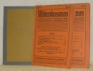 Mikrokosmos. Zeitschrift zur Forederung wissenschaftlicher Bildung. Band I, mit 2 Tafeln und 49 Abbildungen. Band II, mit 2 Tafeln une 108 ...