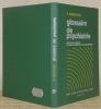 Glossaire de psychiatrie.. MARCHAIS, P.