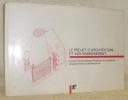 Le projet d'architecture et son enseignement. Ecole Polytechnique Fédérale de Lausanne, Département d'architecture. Introduction Jacques Gubler.. ...