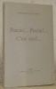 Pascin!... Pascin!... C'est moi!... Edition revue et omplètement remaniée. Collection: Ecrits et Documents de Peintres, dirigée par Pierre Cailler.. ...