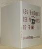 Les éditions des Portes de France. Porrentruy - Paris, 1942 - 1948.. JACQUAT, Jeannine. - RERAT-OEUVRAY, Géraldine. - GIRARD, Benoît.