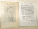 René Auberjonois. Dessins - Textes - Photographies, précédé du peintre par Fernand Auberjonois.. AUBERJONOIS, René. - AUBERJONOIS, Fernand.