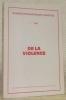 Cahiers psychiatriques genevois 1, 1986. De la violence..