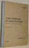 Cours de langue allemande. Première partie du Cours Briod et Stadler. Cinquième édition.. Briod, Ernest.