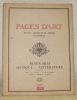 Pages d'Art. Revue mensuelle suisse illustrée. Beaux-Arts - Musique - Littérature. Numéro 1 - mai 1915 - 1re année. Sommaire du Numéro de Mai: ...