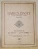 Pages d'Art. Revue mensuelle suisse illustrée. Beaux-Arts - Musique - Littérature. Numéro 8 - décembre 1915 - 1re année. Sommaire du Numéro de ...