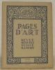 Pages d'Art. Juillet 1924. Revue Mensuelle Suisse Illustrée. Sommaire du numéro de Juillet 1924: Eventails (12 illustrations), J. P. - Hermann ...