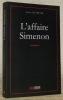 L'affaire Simenon.. DE PRETER, Alain.