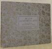 Cent cinquantième printemps de la Société des Arts. De l'un a l'autre Ja...ques. Chansons Genevoises. Silhouettes de Henry van Muyden.. RHEINWALD, ...