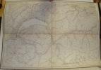 3 Cartes / Karten. Karte der Schweiz. In IV Blättern (felt ein Blätte) nach dem Topographischen Atlasse des Eidgenössichen Generalstabes. Reduziert, ...