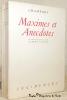 Maximes et anecdotes. Avec une biographie par Ginguené et une introduction par Albert Camus. Collection Incidences, n.° 2.. CHAMFORT.